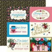 "Echo Park - Alice in Wonderland - 4""x6"" Journaling Cards 12x12 Cardstock"